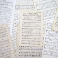 10 Assorted Sheet Music Pages